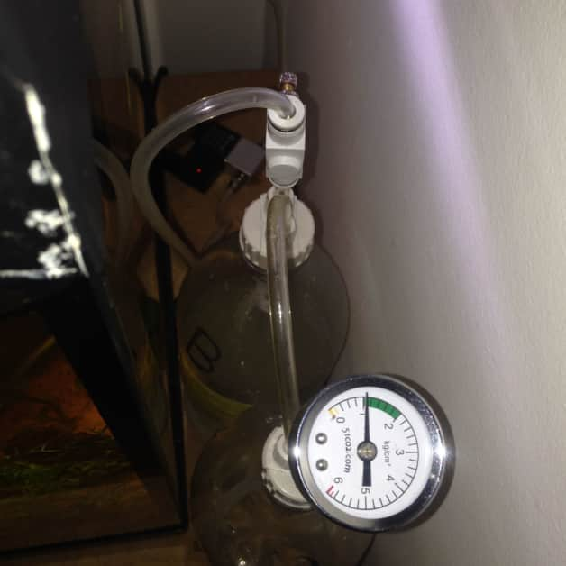 Pour une diffusion optimale, la pression doit se situer entre 1 et 2 Bar. Votre kit CO2 est presque prêt.