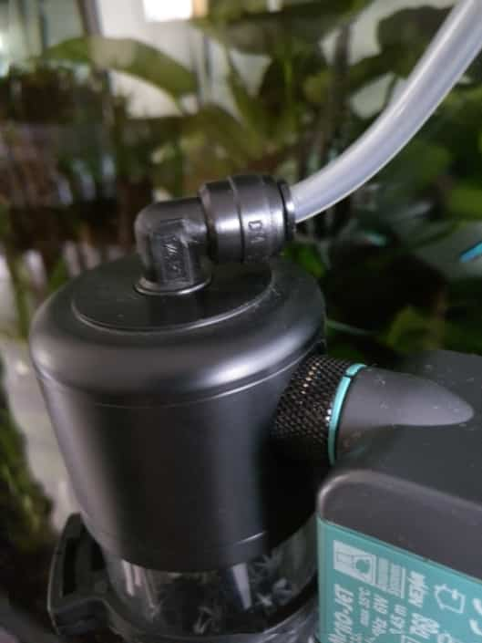 Connexion du CO2 au raccord pour tube de 6mm